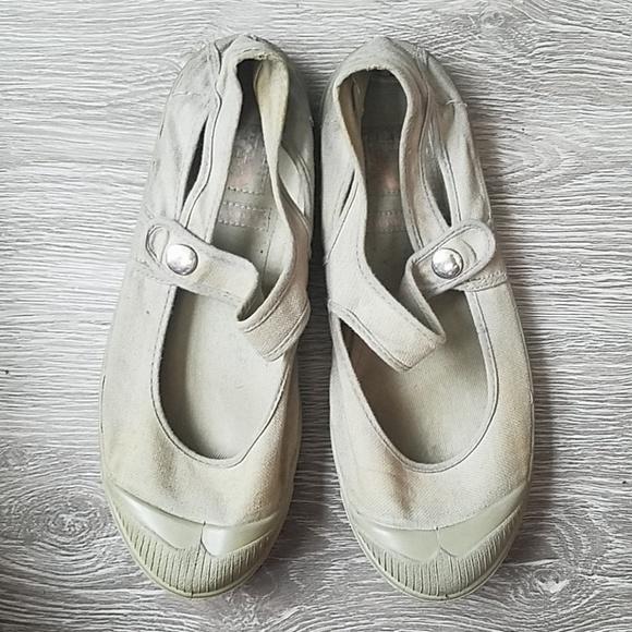 Bensimon Shoes - Grey Bensimon Mary Jane canvas flats. Size 37.
